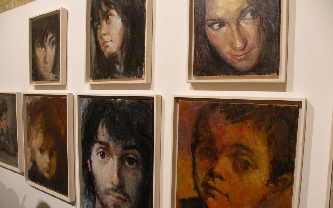 Compendio de retratos que expuso en Albalate en 2009. / Mariángeles Cañada