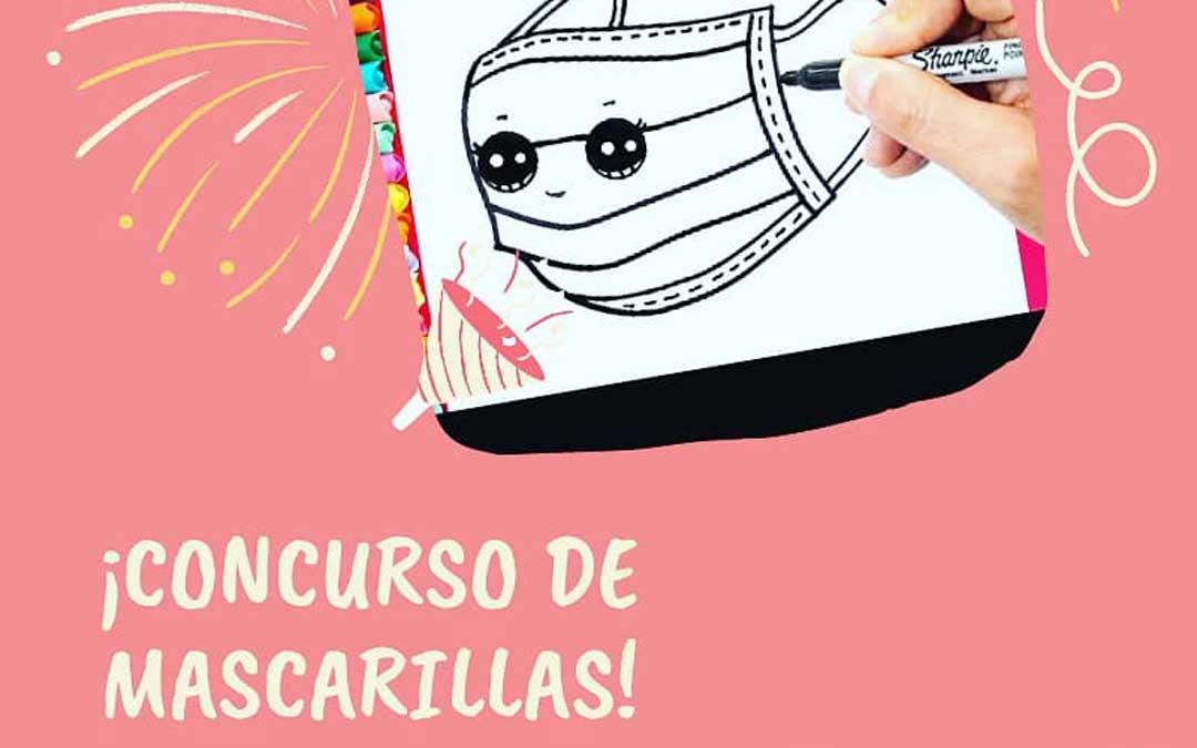 Cartel del concurso de mascarillas de Torrecilla de Alcañiz