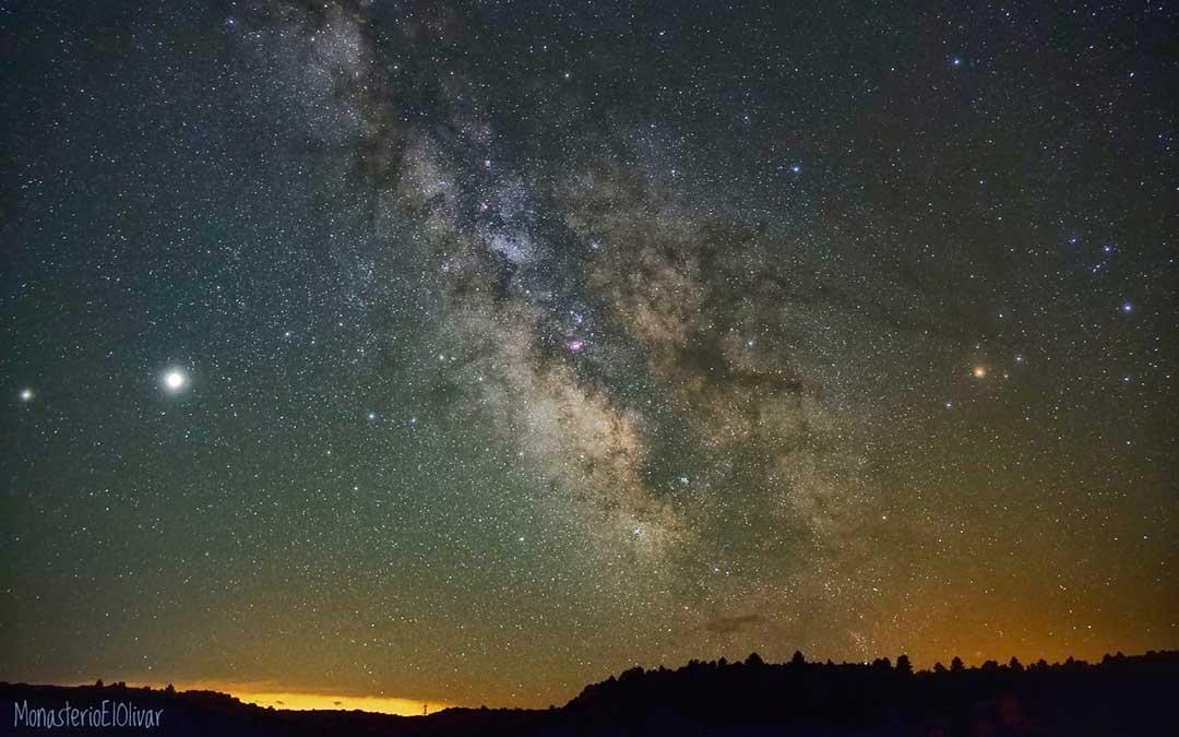 Imagen de la Vía Láctea tomada desde el Monasterio de El Olivar el pasado mes de julio./ Monasterio de El Olivar