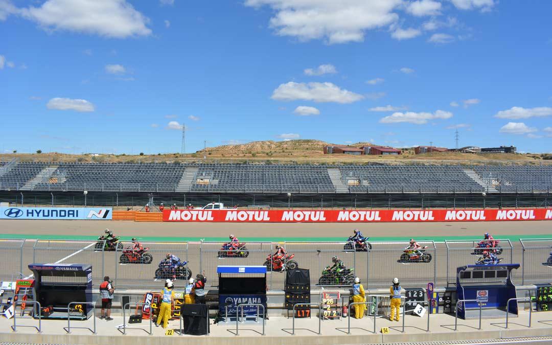 Gradas vacías este fin de semana en el último mundial de Superbikes en Motorland./I.M.