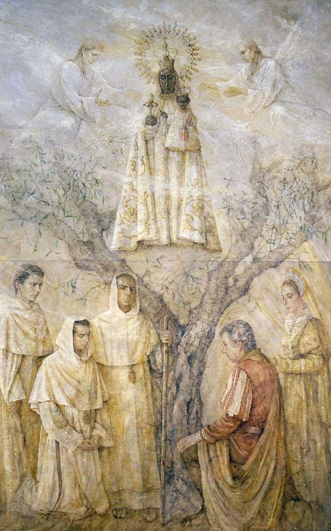 Virgen del Olivar para el Monasterio de Estercuel. / Nati Cañada