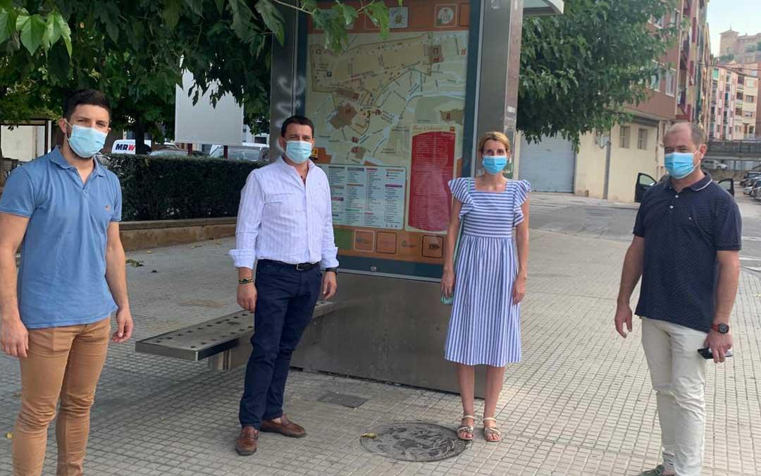 Los concejales Nacho Carbó, Miguel Ángel Estevan, Anabel Fernández y Ángel Espés / PP