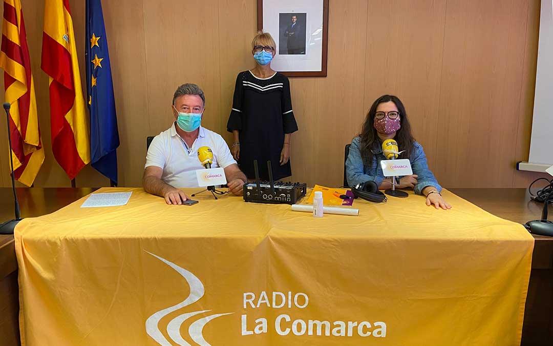 José María Merino en el programa especial de Radio La Comarca desde la sede de Cuencas Mineras./ L.C.