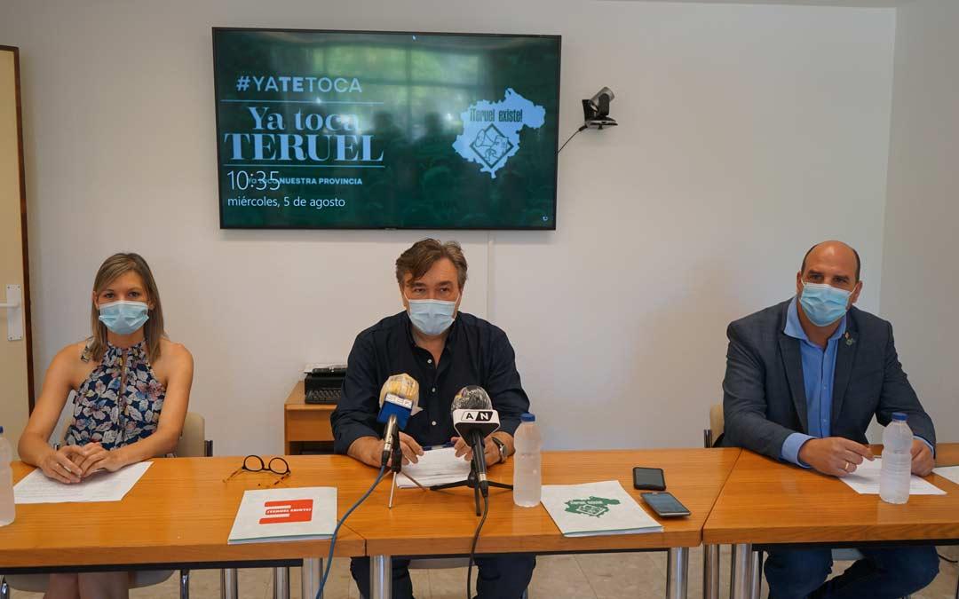Rueda de Prensa de Teruel Existe./LA COMARCA