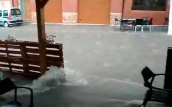 Las calles de Andorra se transforman en ríos