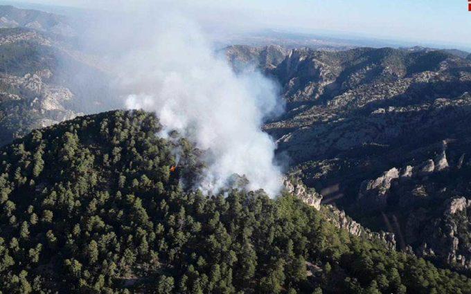 Declarado un incendio forestal en Beceite