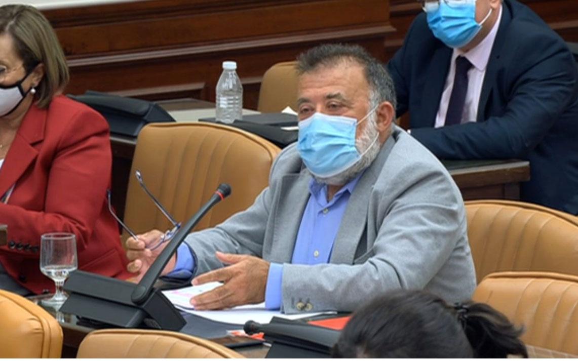Herminio Sáncho defendiendo la PNL en la Comisión de Agricultura del Congreso