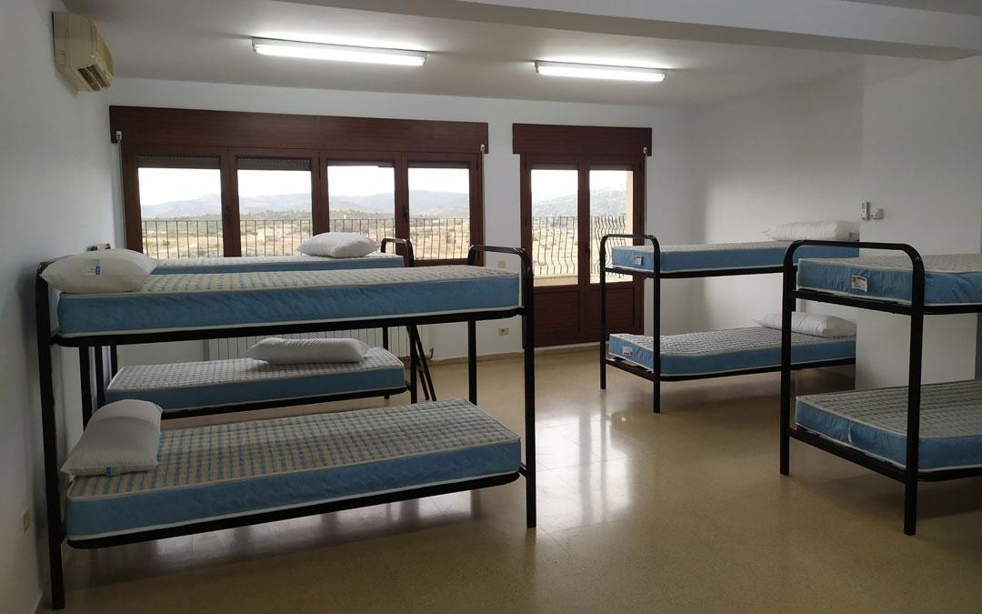 Detalle de las instalaciones del albergue de Aguaviva que se ubica en la segunda planta del Centro de Servicios Múltiples. / Ayto. Aguaviva