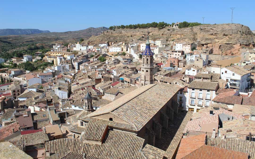 Una de las vistas del casco urbano de Albalate del Arzobispo. / B. Severino