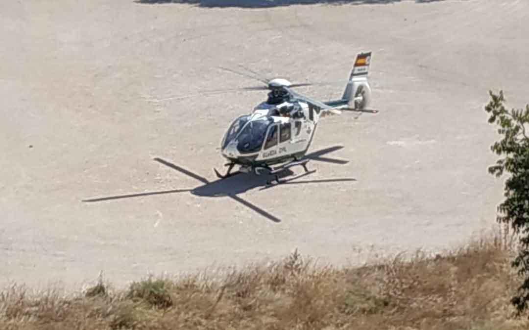 El helicóptero que busca a los delincuentes
