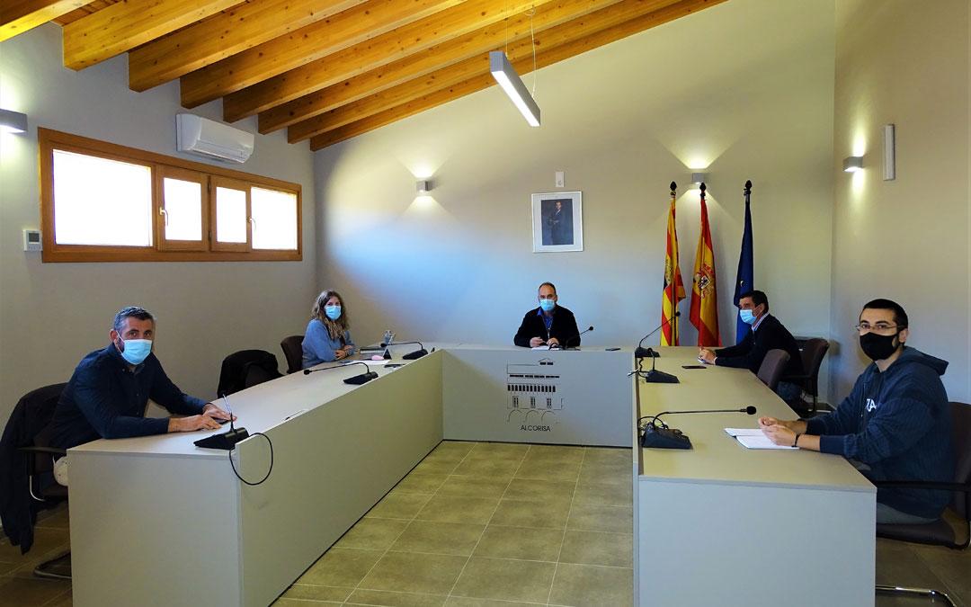Reunión de la Junta de portavoces. / Ayto. Alcorisa