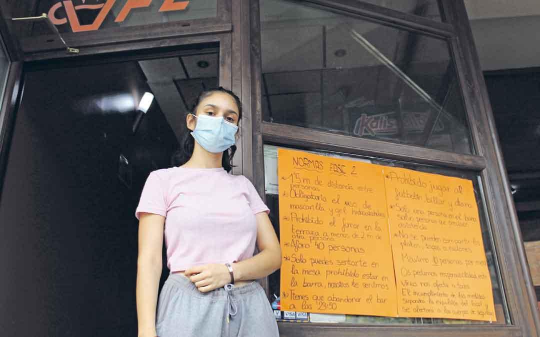 Carmen Marín, propietaria del En Joy Café. / B. Severino