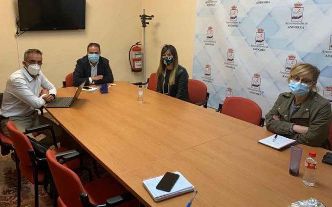 Empresarios y Ayuntamiento de Andorra acuerdan prorrogar las ayudas covid