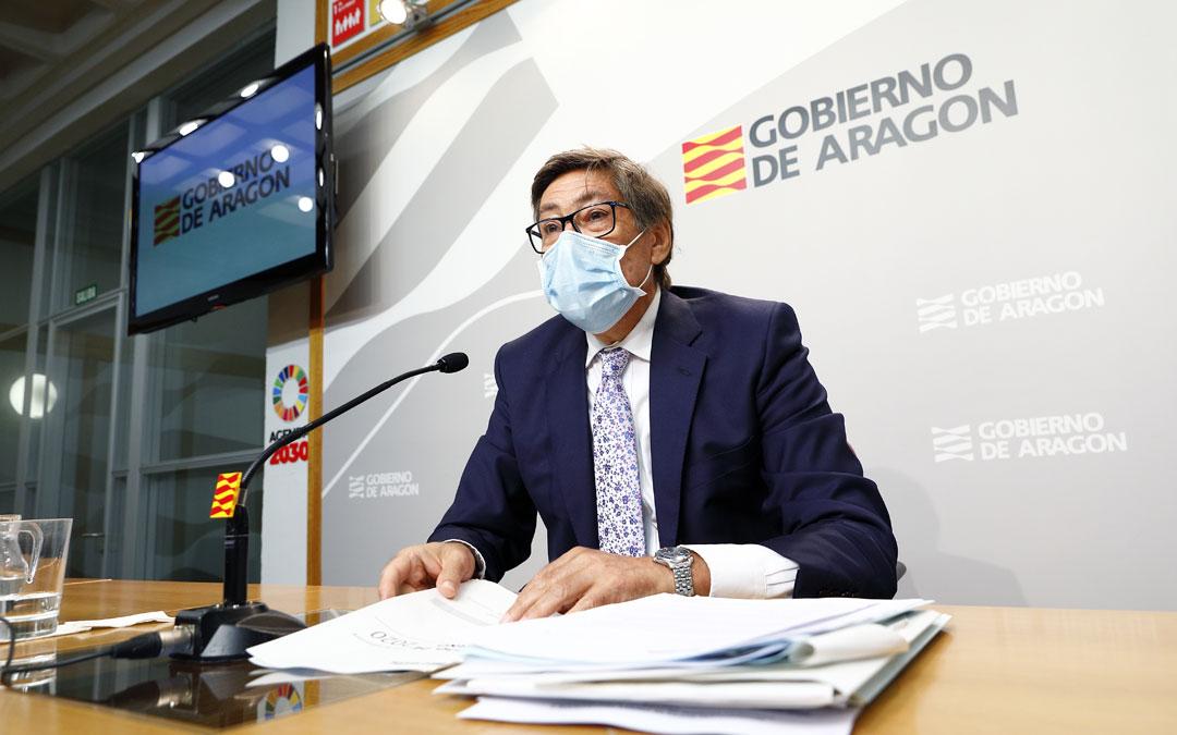 Arturo Aliaga en la rueda de prensa. / DGA