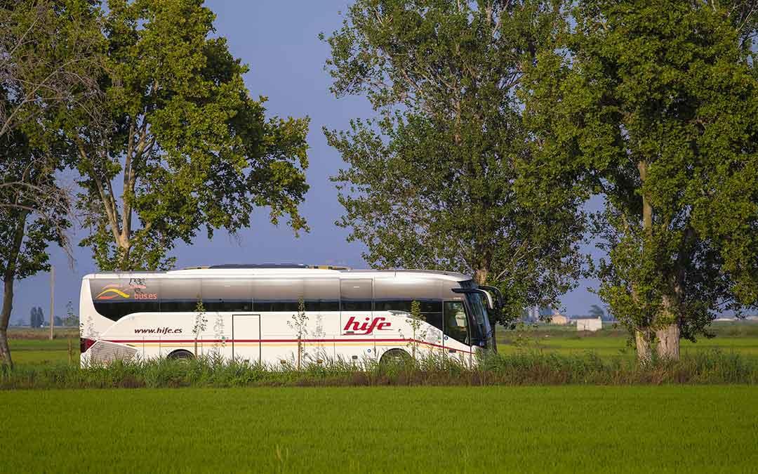 Imagen de un autobús de la empresa HIFE./ HIFE