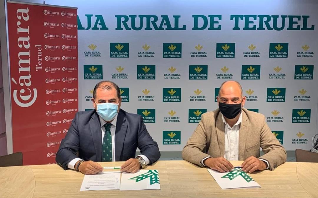 El Presidente de Cámara, Antonio Santa Isabel y el Director General de Caja Rural de Teruel, David Gutiérrez Díez./ Caja Rural de Teruel
