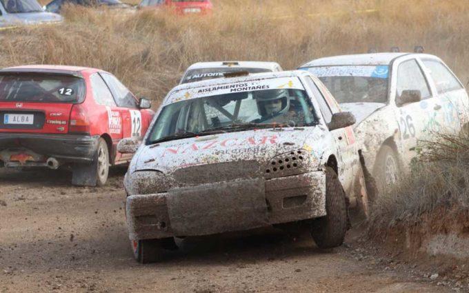 El alcañizano Carlos Arco es el mejor de los aragoneses en el Autocross de Calamocha