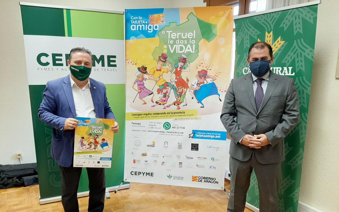 Presentación de la campaña de la Tarjeta Amiga 2020 que viene desarrollando, desde hace más de 10 años, CEOE-CEPYME con Caja Rural de Teruel.