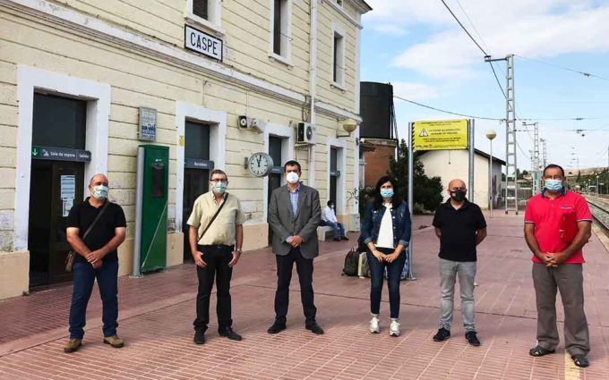 CHA reclama a Renfe la restitución de los servicios ferroviarios en Caspe