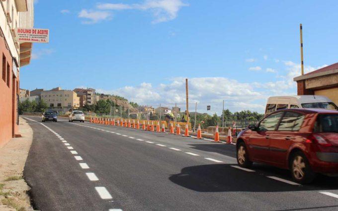 Alcañiz reabre el Corcho y prolonga el cambio de la avenida Aragón hasta el 1 de noviembre