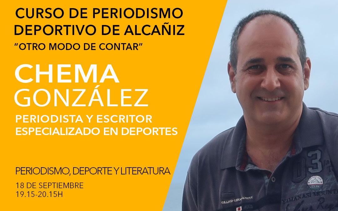 Chema González. Curso de periodismo deportivo de Alcañiz./ L.C.