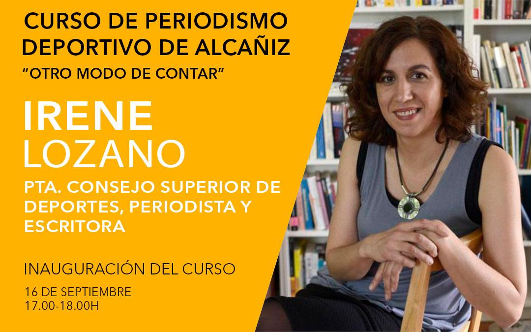Irene Lozano. Curso de periodismo deportivo de Alcañiz./ L.C.