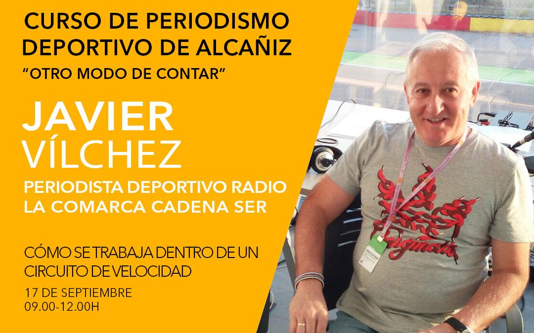 Javier Vílchez. Curso de periodismo deportivo de Alcañiz./ L.C.