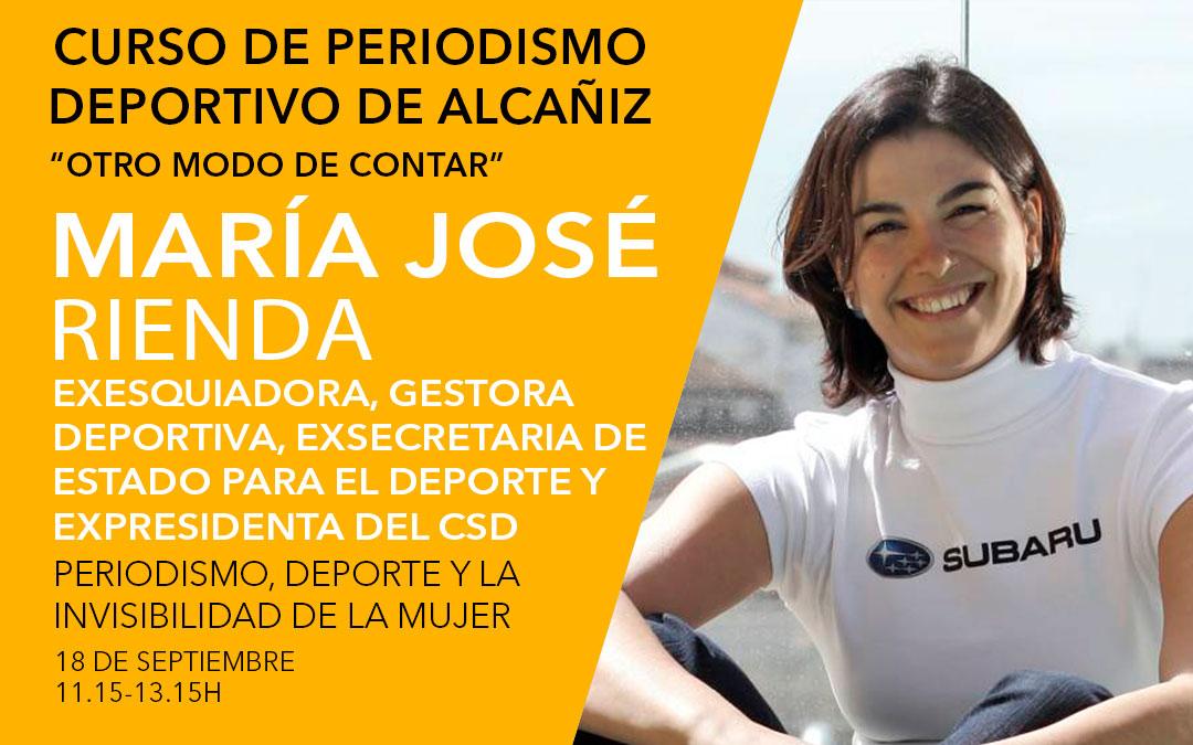 María José Rienda. Curso de periodismo deportivo de Alcañiz./ L.C.