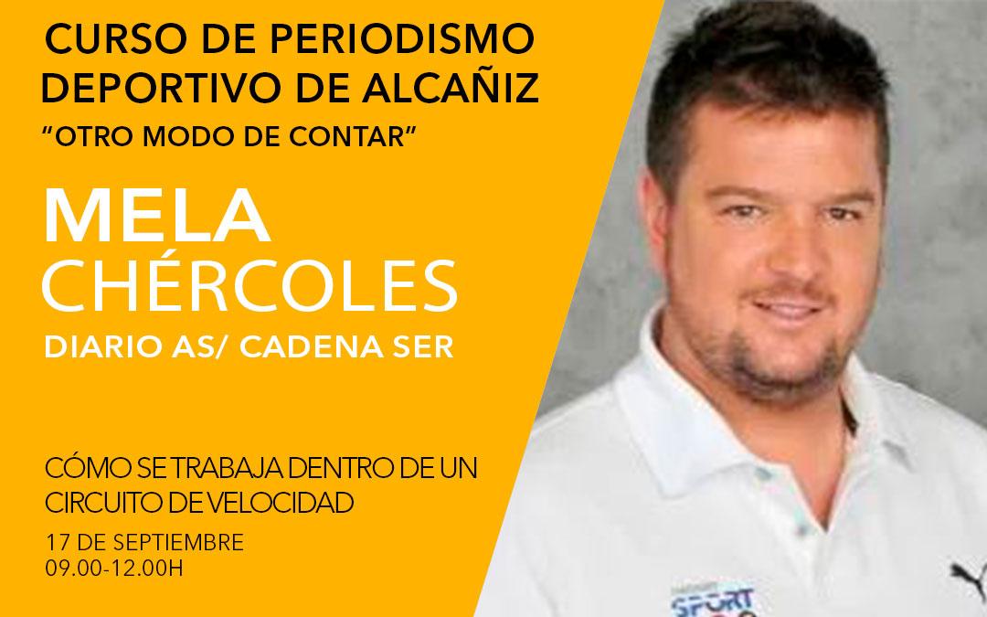 Mela Chércoles. Curso de periodismo deportivo de Alcañiz./ L.C.