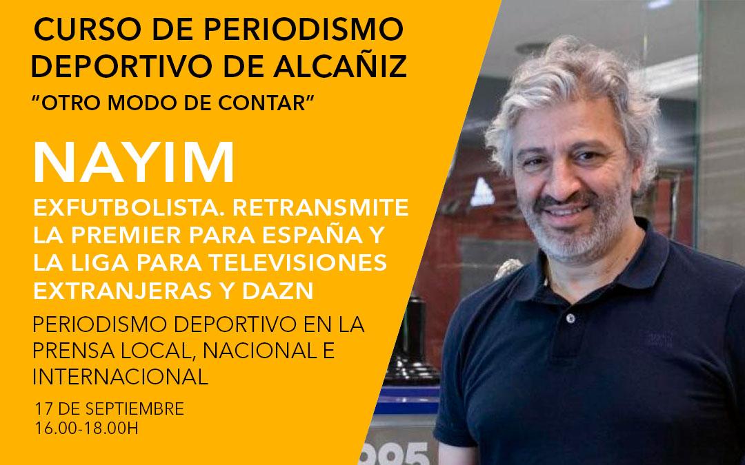 Nayim. Curso de periodismo deportivo de Alcañiz./ L.C.