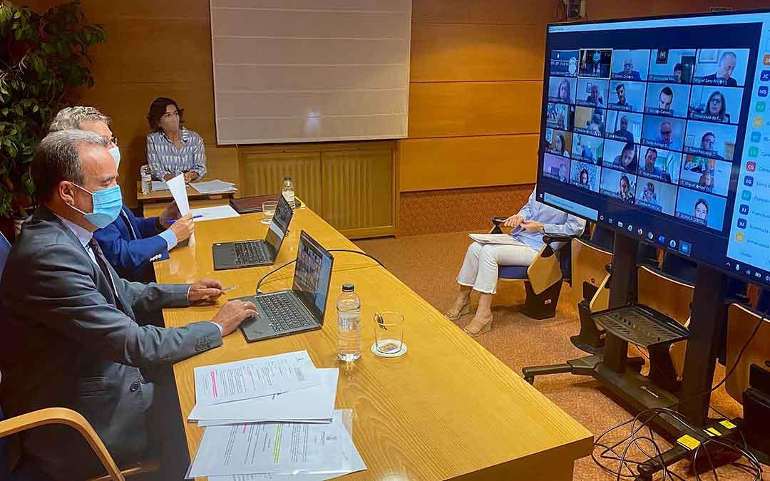 El pleno de la DPZ se ha llevado a cabo de forma telemática.
