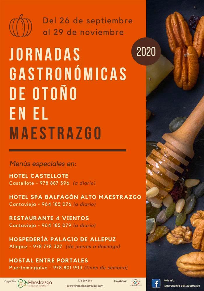 Jornadas Gastronómicas de otoño en el Maestrazgo