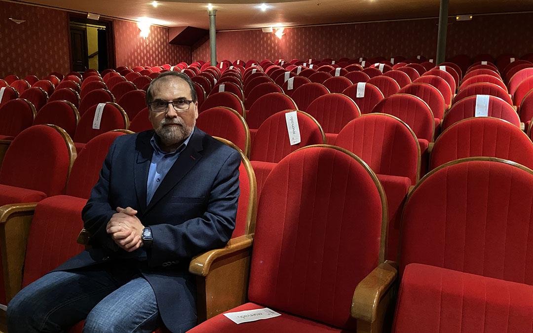 Ortiz Remacha en el Teatro Municipal de Alcañiz./ Alicia Martín