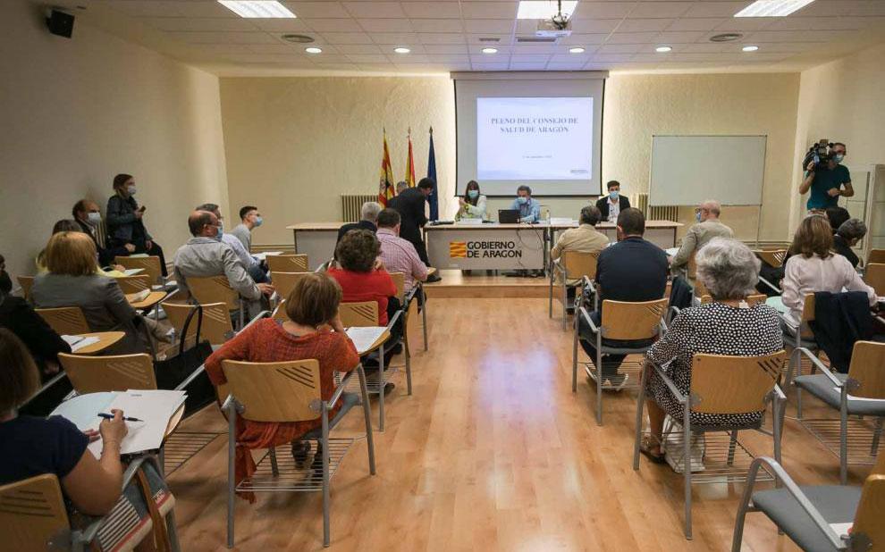 Pleno del Consejo de Salud de Aragón/ HERALDO. José Miguel Marco