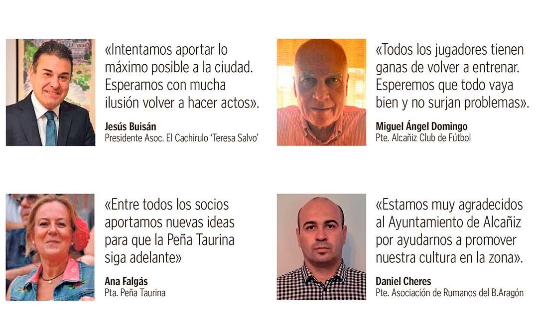 Presidentes de las asociaciones de Alcañiz./ L.C.