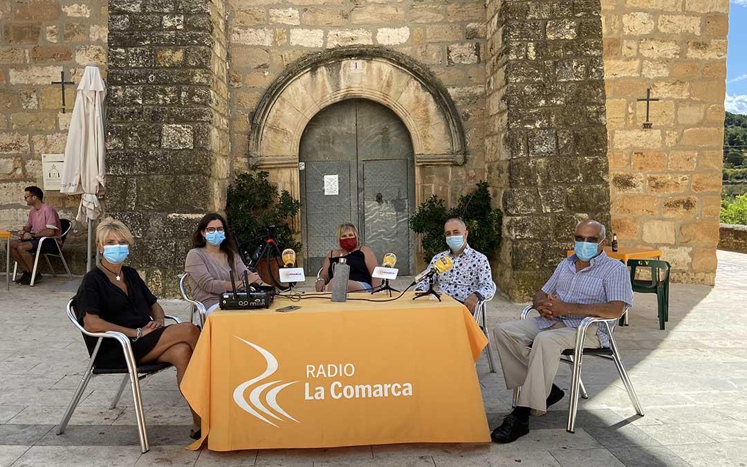 Invitados al programa especial emitido desde La Cañada de Verich./ L.C.