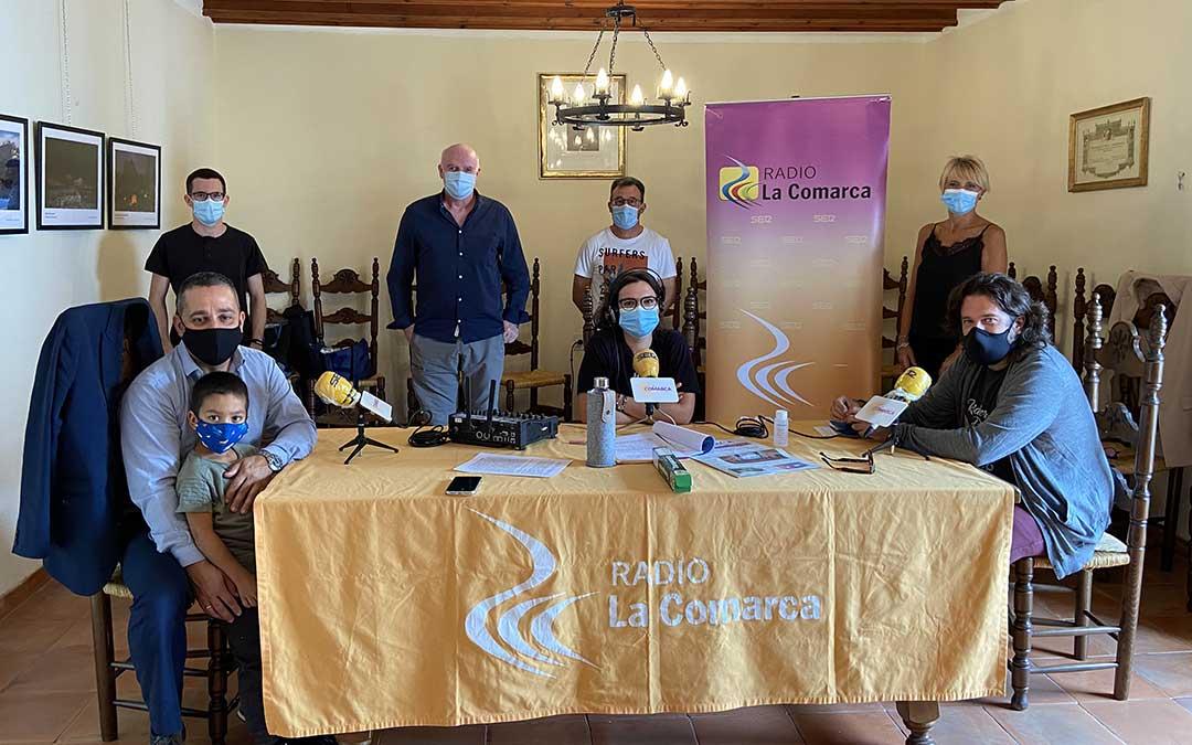 Programa especial emitido desde el Ayuntamiento de Foz Calanda./ L.C.