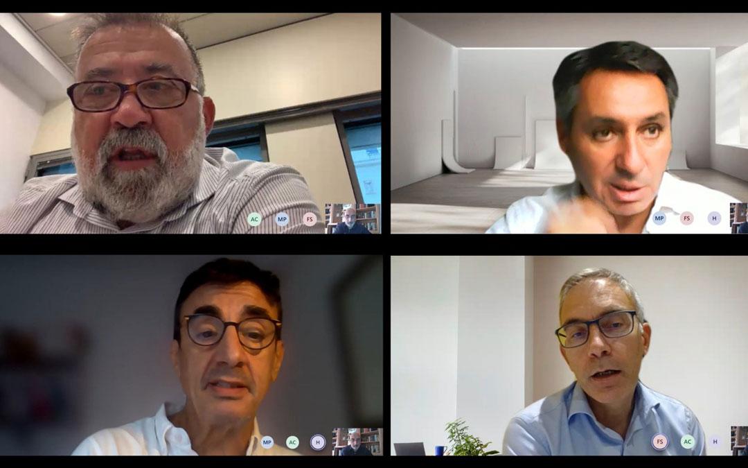 Reunión telemática del diputado Herminio Sancho con los representantes de Telefónica./LA COMARCA