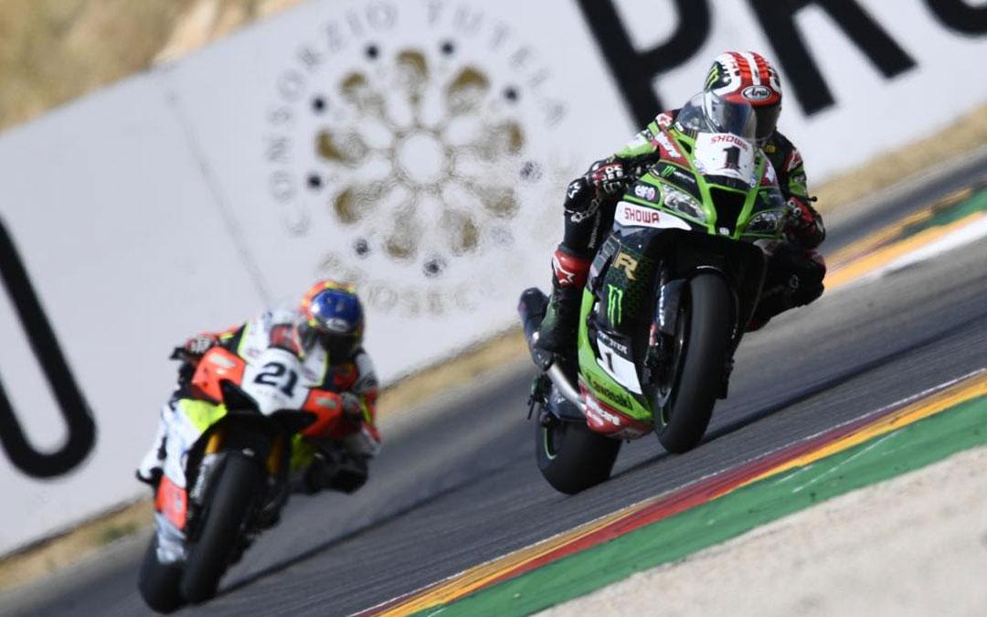 El duelo entre Rea y Rinaldi ha centrado la segunda carrera de WorldSBK./ Motorland Aragón