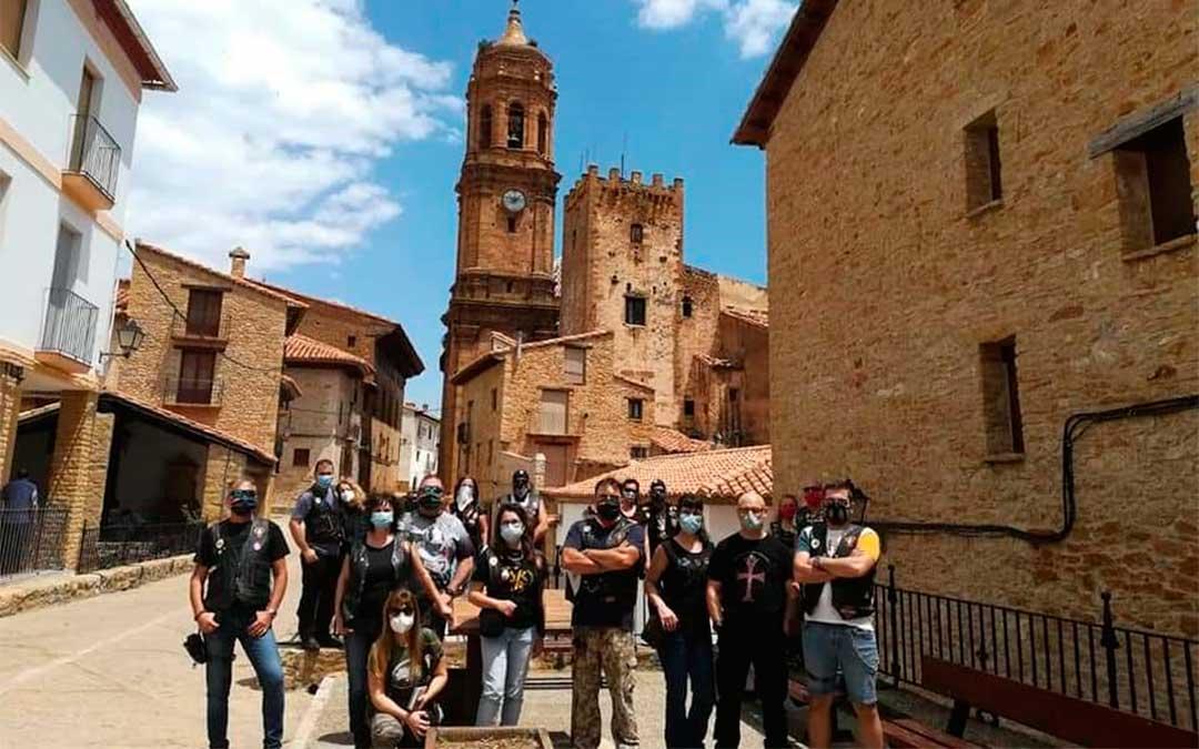 Los grupos de moteros y ciclistas que han visitado La Iglesuela del Cid este verano han aumentado respecto a años anteriores./ Ayto. de La Iglesuela del Cid