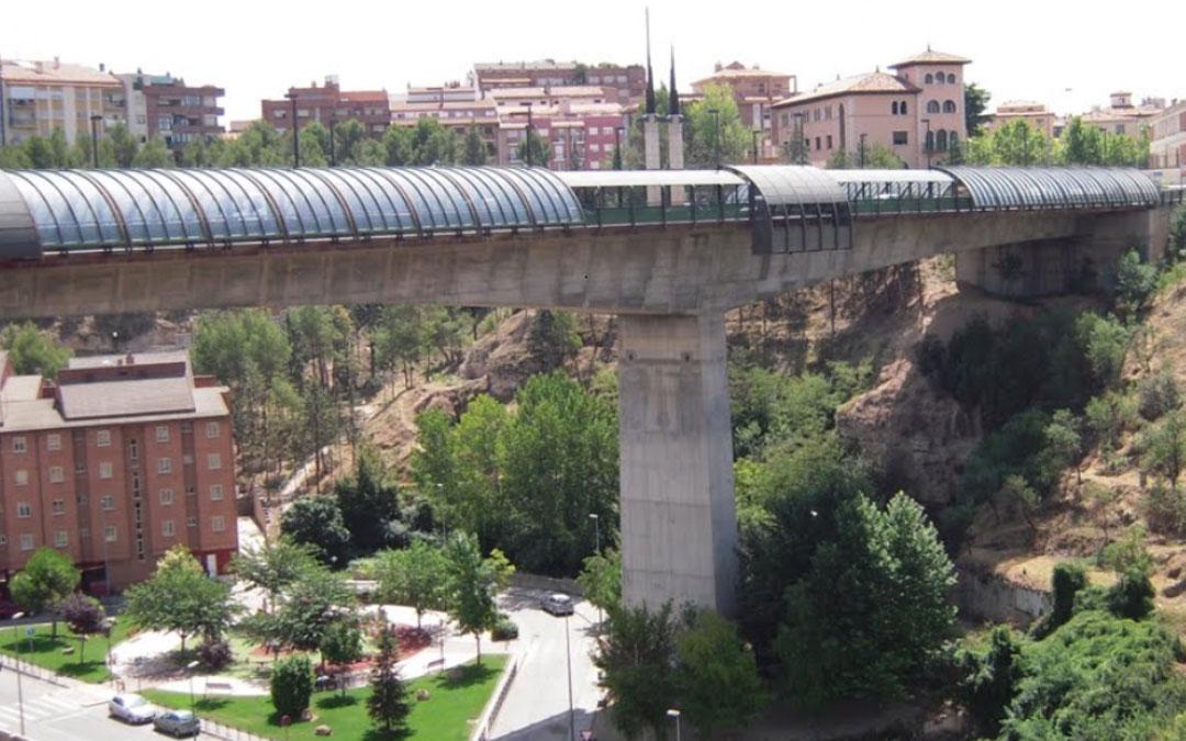 El Viaducto de Teruel, proyecto del olietano. / Archivo A. Cañada
