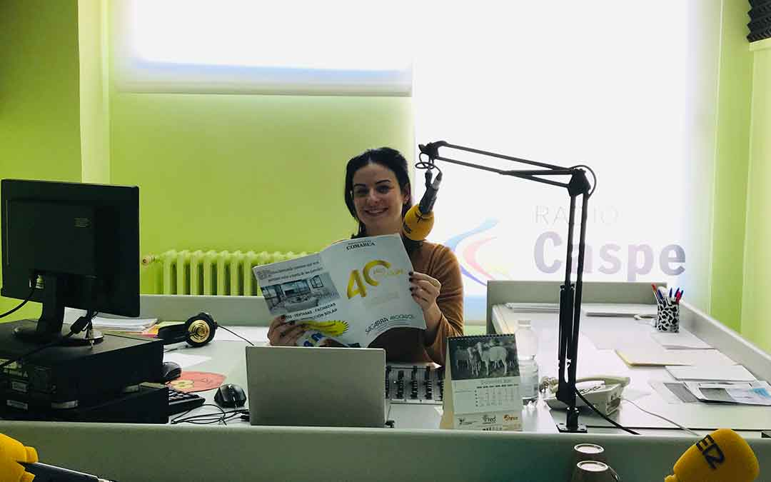 Laura Quílez presentó el Programa Especial sobre el 40 aniversario de ExpoCaspe.