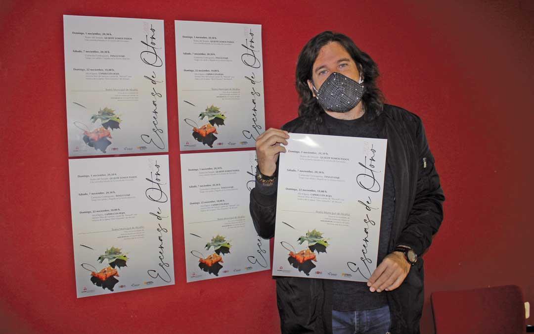 El concejal de Cultura, Jorge Abril, este lunes, en la presentación del ciclo / L. Castel