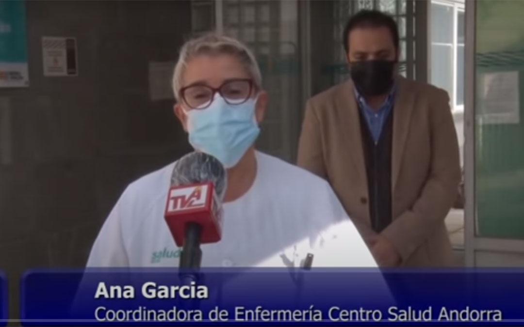Comunicado de la coordinadora del Centro de Salud de Andorra y el alcalde en la televisión local