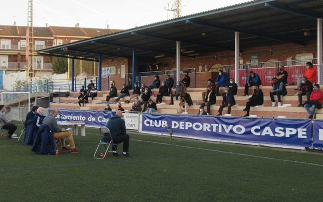 Asamblea de socios del Club Deportivo Caspe el sábado en Los Rosales