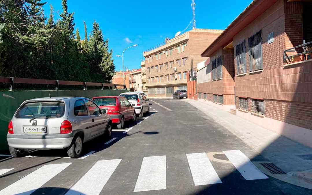 Imagen de la calle Alcañiz totalmente renovada.