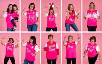 El Club Deportivo Caspe pone a la venta camisetas solidarias contra el cáncer de mama