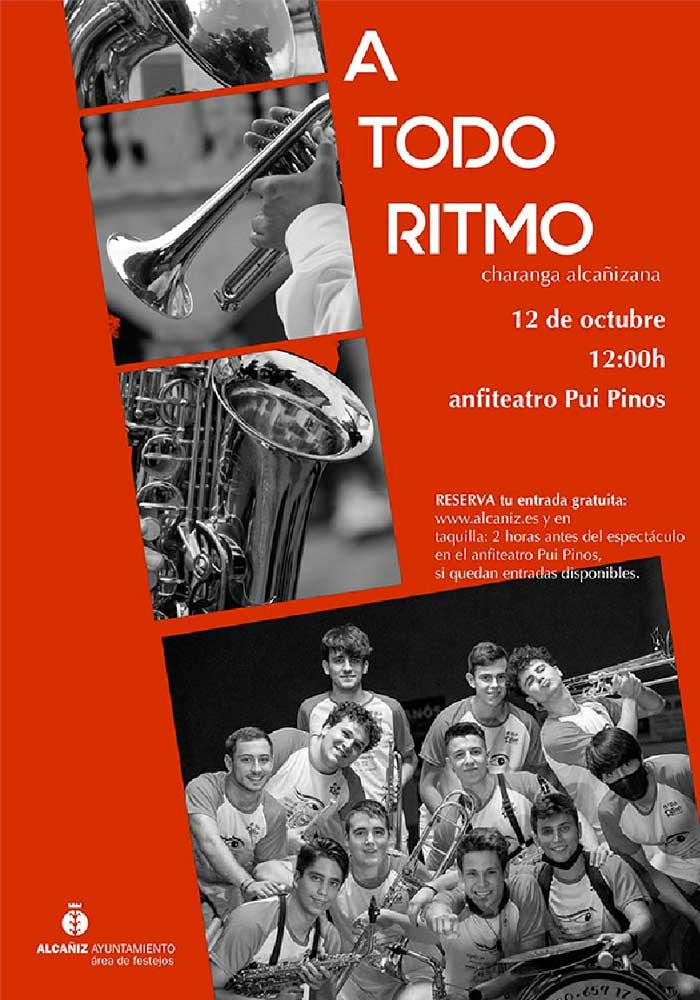 """Actuación Charanga """"A todo Ritmo"""" en Alcañiz"""