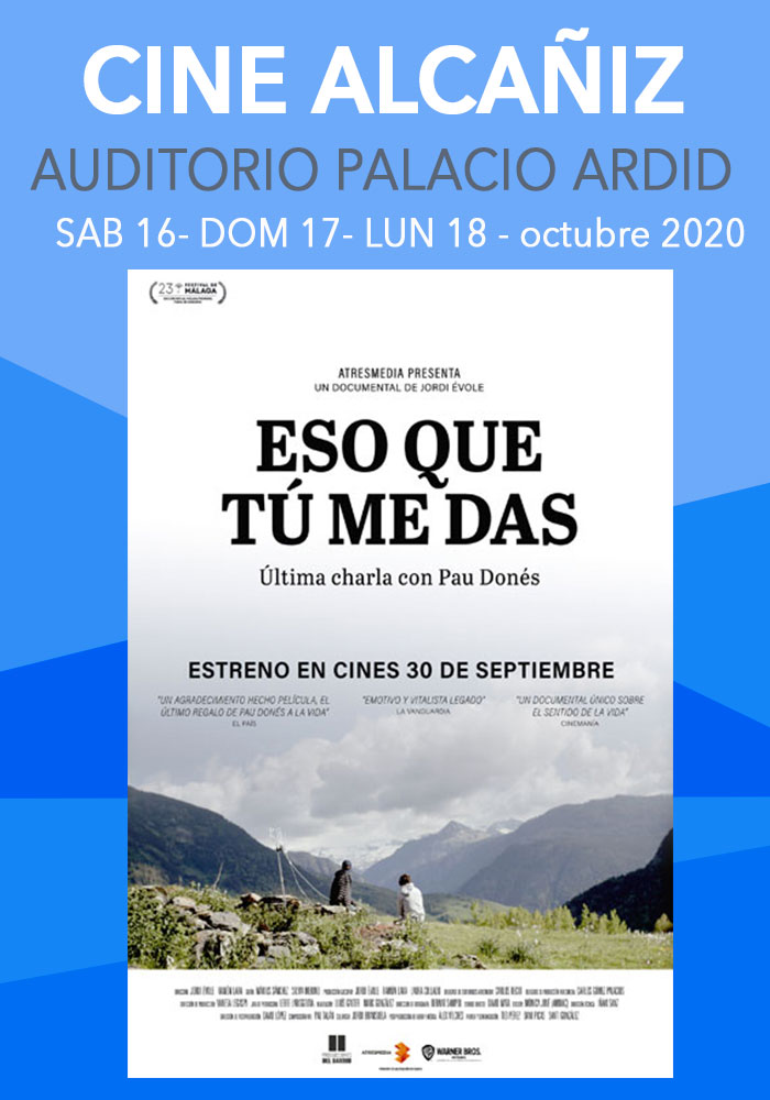 Cartelera Cine Alcañiz 17 al 19 de octubre