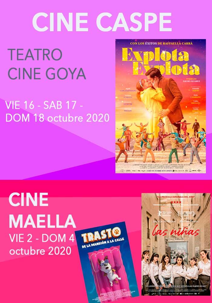 Cartelera Cine Caspe y Maella 16 al 18 de octubre